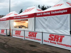 tentes paddocks de Sports Racing Technologies
